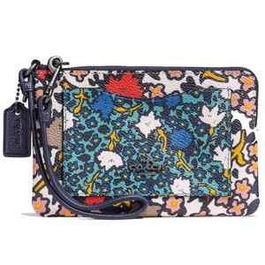 Coach COACH Small Wristlet In Mixed Yankee Floral Print Coated Canvas