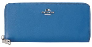 Coach Coach 53707 Slim Accordion Zip Wallet Sliver/Lapis Blue