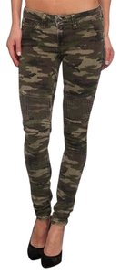 SOLD Design Lab Soho Supe Studded Camo Skinny Jeans-Medium Wash