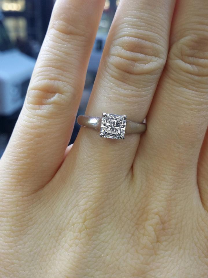 0b48e4a2d1f61 Tiffany & Co. White 1.01ct Lucida Engagement Ring 48% off retail