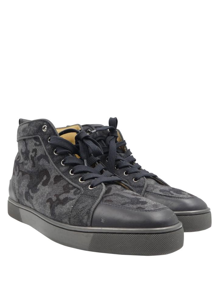 best loved 9ef29 57fdb Christian Louboutin Black Gray Camouflage Rantus High Top 42/9 Men's  Sneakers Size EU 42 (Approx. US 12) Regular (M, B) 51% off retail