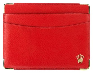 Rolex 0101.60.05 Red Leather Rolex Wallet Card Holder