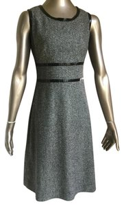 Dana Buchman Faux Patent Piping A-line Tweed & Dress