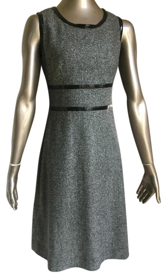 66d9d5aacbbd Dana Buchman Black/White Tweed A-line Mid-length Work/Office Dress ...