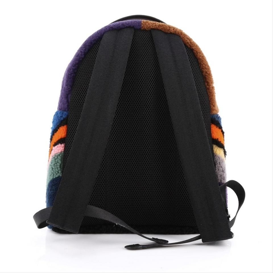 Fendi Monster Shearling Fur Backpack Multicolor