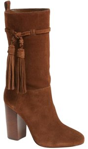 Vince Camuto Suede Leather Tassels Brown Boots
