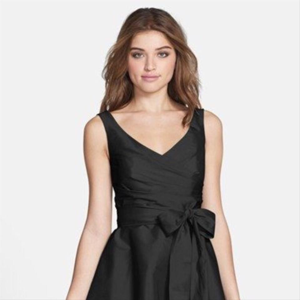 Alfred Sung Black Fit and Flair Short Cocktail Dress Size 2 (XS ...