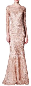 Marchesa Notte Blush Embroidered Gown Pink Gala Dress