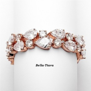 Bella Tiara Special - Beautiful Rose Gold Bridal Wedding Bracelet