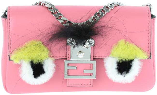 Item - Micro Monster Pink Leather Baguette