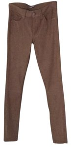 7 For All Mankind Skinny Pants Tan