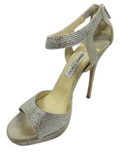 Jimmy Choo Open Toe Silver Rhineshones Sandals