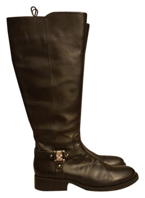 Vince Camuto Black W Leather Riding W/Silver Tone Hardware Boots/Booties Size US 10 Regular (M, B) Vince Camuto Black W Leather Riding W/Silver Tone Hardware Boots/Booties Size US 10 Regular (M, B) Image 1