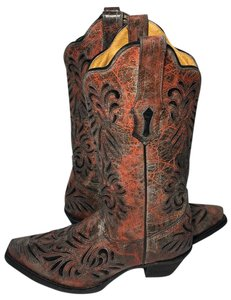Corral Boots Cowgirl Women 7.5 Women Size 7.5 Gray Red Boots