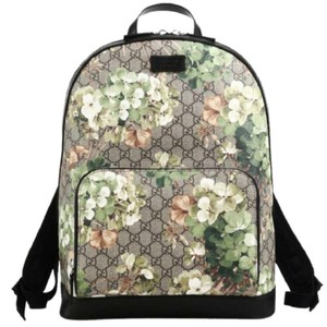 Gucci Blooms Canvas Leather Backpack