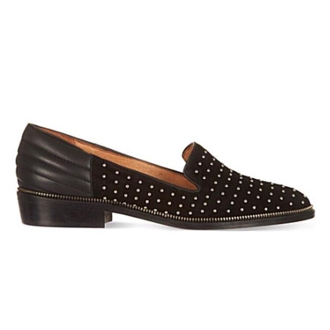 Item - Black Studded Suede Loafers Flats Size US 7 Regular (M, B)