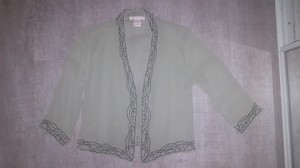 Gold Hawk Silk Beaded Deco Kimono Green Black Jacket