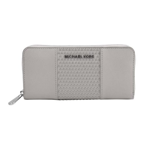 b978b5e6c522 Michael Kors Saffiano Wallet Pearl Grey | Stanford Center for ...
