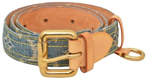 121691334f9d Louis Vuitton Monogram Denim Ceinture Denim Belt 30