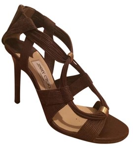 Jimmy Choo Leather Tribal Luxury brown Sandals