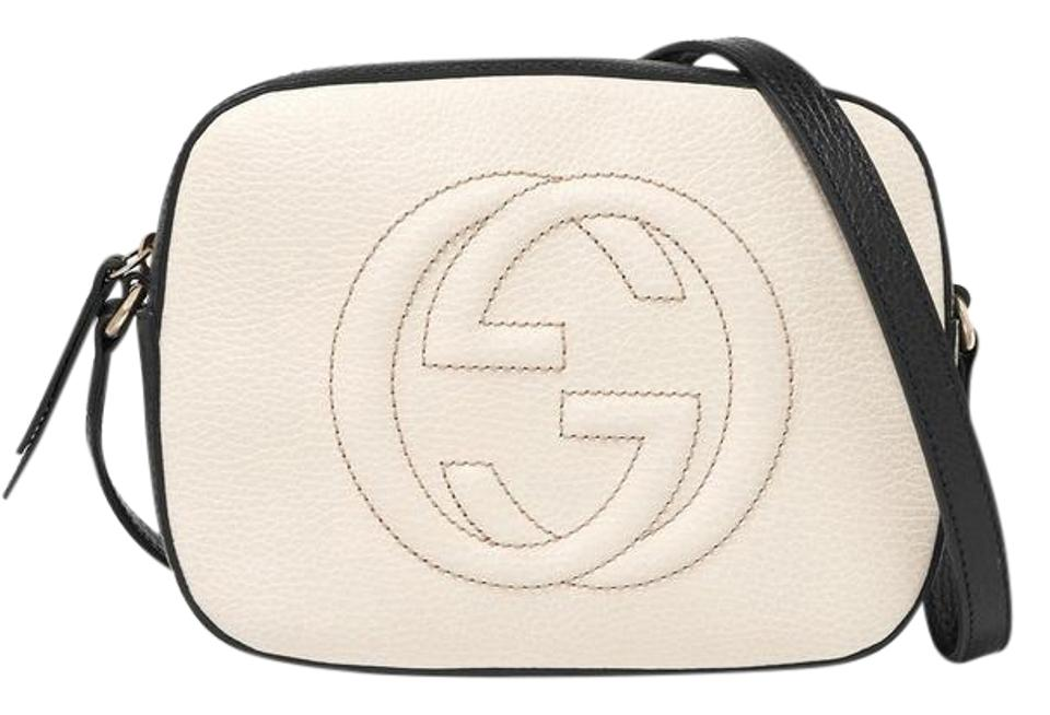 03a4c3d8d Gucci Soho Disco Black and White Textured Leather Shoulder Bag - Tradesy