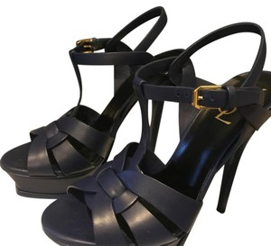 Saint Laurent Navy Blue Sandals