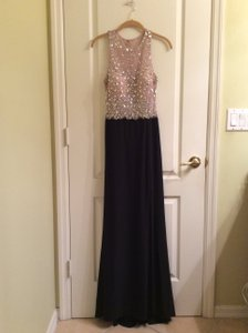 Blondie Nites Black Polyester Formal Bridesmaid/Mob Dress Size 6 (S)