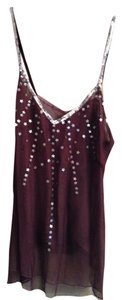 Sparkle & Fade Romantic Sequin Stars Top plum