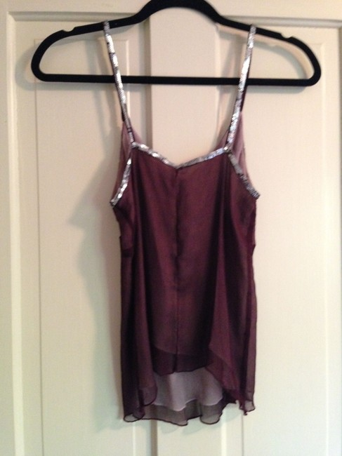 Sparkle & Fade Romantic Sequin Stars Disco Party Date Night Night Out Chiffon Urban Outfitters Top plum
