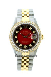Rolex 1.5CT 36MM MEN'S DATEJUST 2-TONE WATCH W/ BOX & APPRAISAL