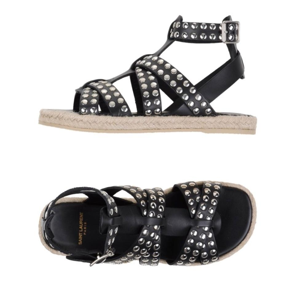 Saint Laurent Black Silver Silver Black New Sandals 6eefeb