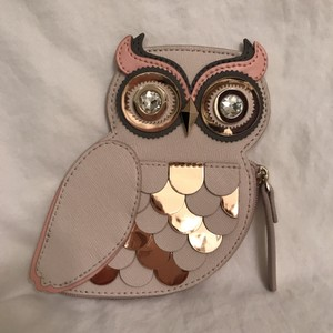 Kate Spade Leather Painterly Wise Owl Coin Purse