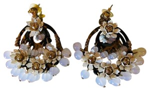J. Crew Large tortoiseshell floral Chandelier Earrings