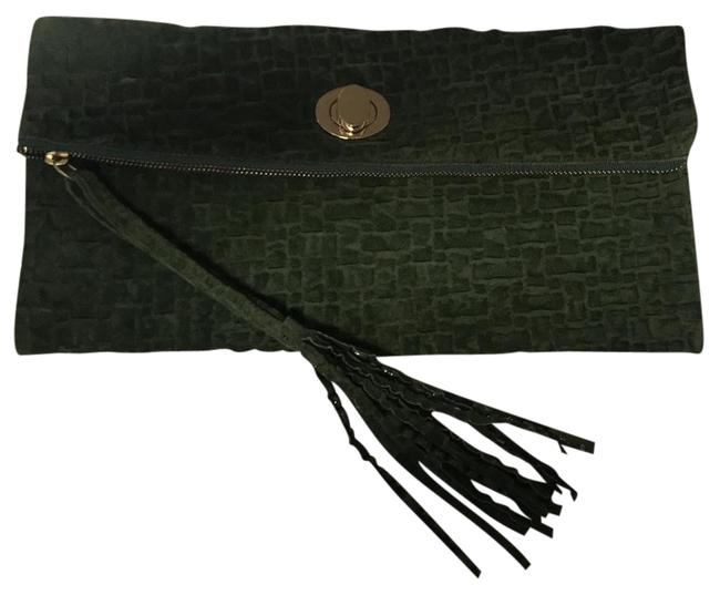 Unsensored Military Green Faux Leather Clutch Unsensored Military Green Faux Leather Clutch Image 1