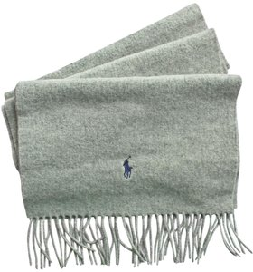 Ralph Lauren authentic RALPH LAUREN wrap SCARF lambs wool GRAY new!