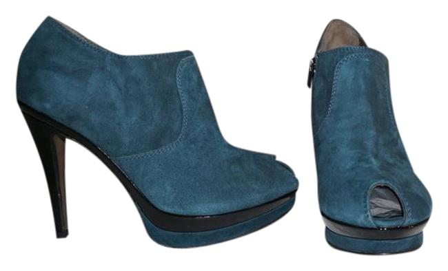 Item - Blue Peep Toe Ankle Boots/Booties Size EU 39 (Approx. US 9) Regular (M, B)