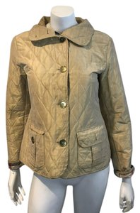 Burberry London Quilted Novacheck beige/gold Jacket