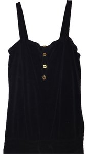 Juicy Couture Juicy Couture Black Jumpsuit in Soft Velvet-like Terry Cloth