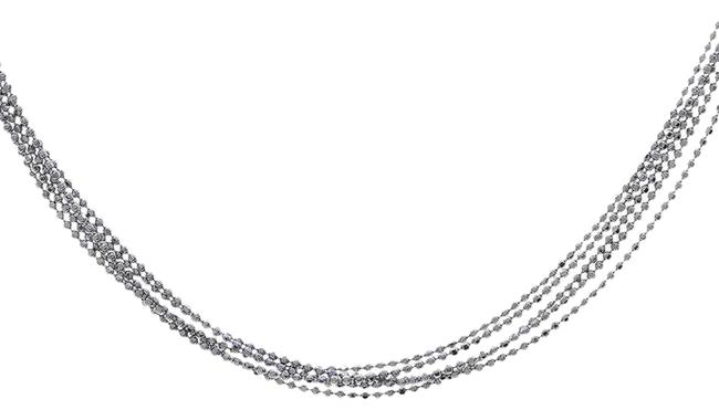 Avital & Co Jewelry White Gold Five Strand Ball Link Chain Made In Italy 14k Necklace Avital & Co Jewelry White Gold Five Strand Ball Link Chain Made In Italy 14k Necklace Image 1