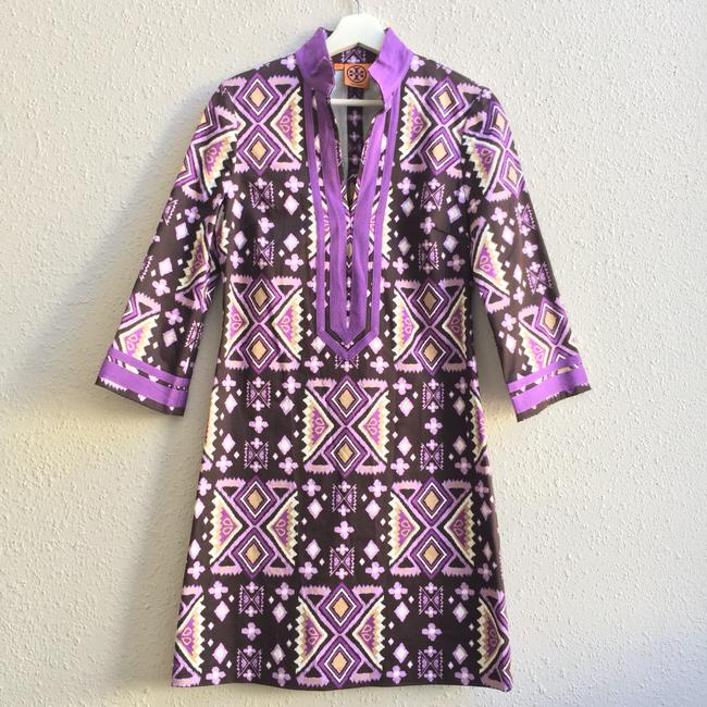 Preload https://img-static.tradesy.com/item/22363473/tory-burch-purple-stretch-cotton-split-neck-tunic-short-casual-dress-size-4-s-0-0-650-650.jpg
