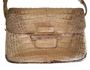 COMTESSE Vintage Alligator Leather Shoulder Bag
