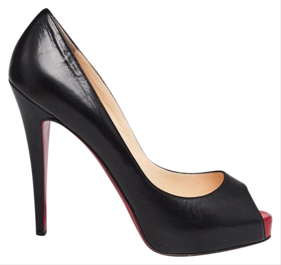 a4457cd69f8 Christian Louboutin Black Leather Very Prive 120 9 Pumps Size EU 40  (Approx. US 10) Regular (M, B)