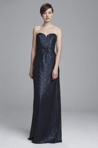 Amsale Black Sequin Gq Formal Bridesmaid/Mob Dress Size 4 (S)