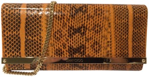 Jimmy Choo Coral Orange Clutch
