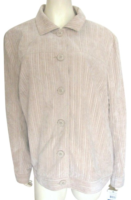 Item - Beige Tan XL New Moccasin Silky Textured Jacket Size 16 (XL, Plus 0x)
