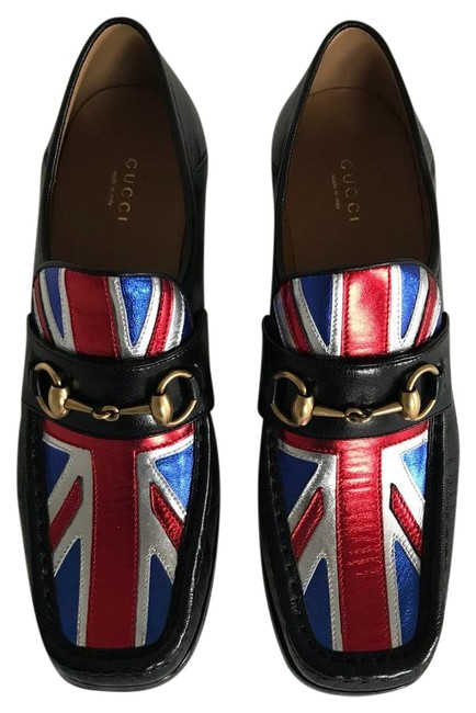 Item - Black Red Silver and Blue Loafer Flats Size US 10 Regular (M, B)