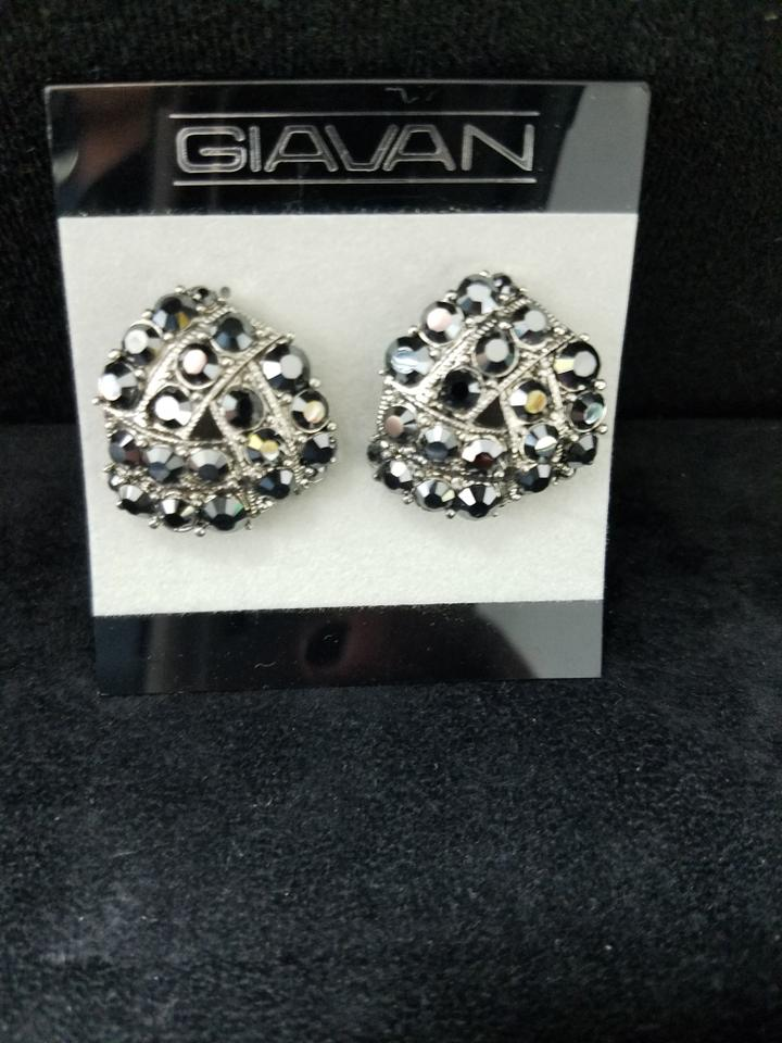 Giavan Jet Hemae Glitzy Crystal Great From Mothers Special Occasion Earrings