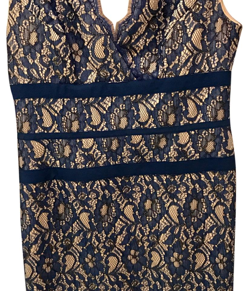 Adrianna Papell Royal Blue Lace Mid-length Cocktail Dress Size 8 (M ...