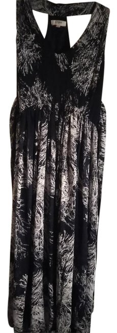 Item - Black White M Usa Print Long Casual Maxi Dress Size 10 (M)