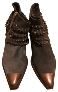 Sartore Studded Cowboy Brown Boots